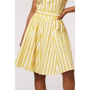 Dangerfield Yellow Striped Skirt